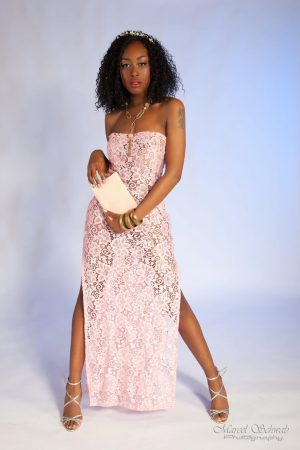 "Pink lace dress from the ""Nature""collection 2018"
